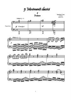 Five Classical Movements for Piano, CS170: Five Classical Movements for Piano by Santino Cara