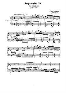 Two Impromptu for Piano, CS046: Two Impromptu for Piano by Santino Cara