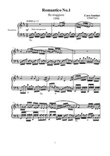 Two Romantics for piano, CS040: Two Romantics for piano by Santino Cara