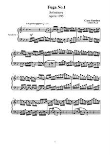 Three Fugues for Piano, CS034: Three Fugues for Piano by Santino Cara