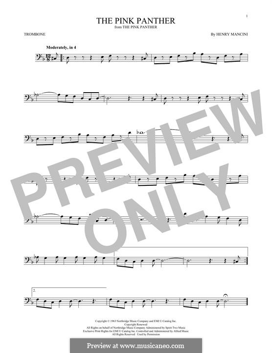 The Pink Panther: For trombone by Henry Mancini