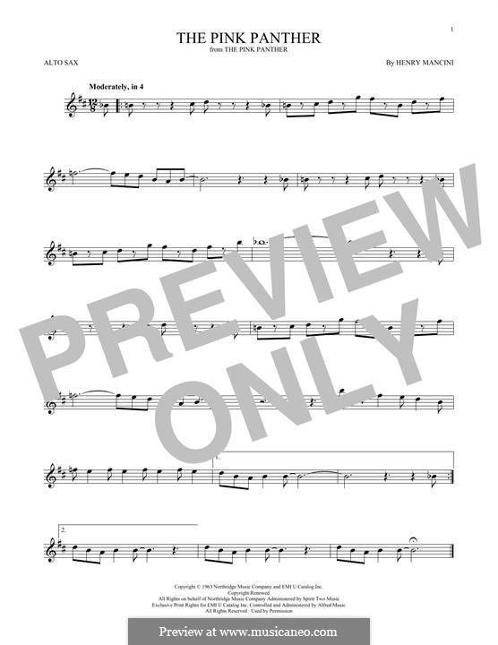 The Pink Panther: Для альтового саксофона by Henry Mancini