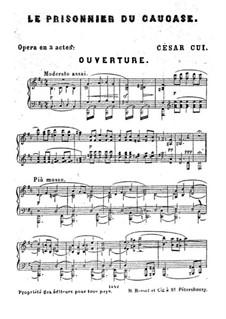 Кавказский пленник: Увертюра, для фортепиано by Цезарь Кюи
