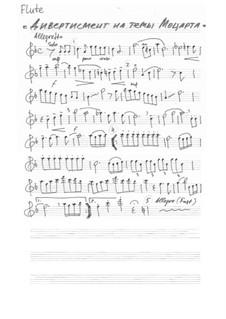 Дивертисмент на темы Моцарта: Партии by Вольфганг Амадей Моцарт