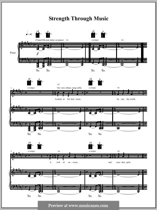 Strength Through Music: Для голоса и фортепиано (или гитары) by Amanda Palmer