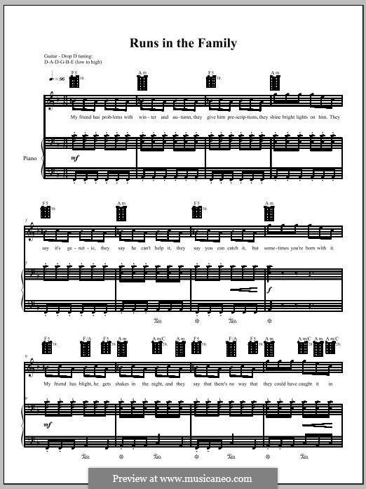Runs in the Family: Для голоса и фортепиано (или гитары) by Amanda Palmer