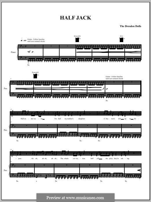 Half Jack (The Dresden Dolls): Для голоса и фортепиано (или гитары) by Amanda Palmer