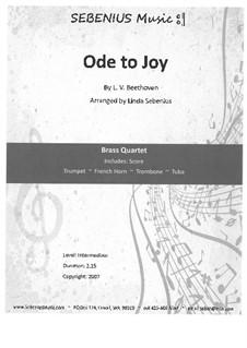 Ода к радости: Version for wind quartet by Людвиг ван Бетховен