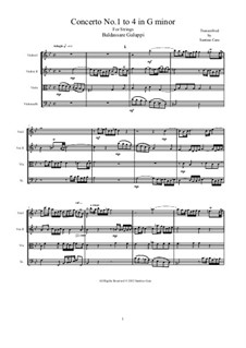 Concerto No.1 to 4 in G minor for Strings: Score, parts by Бальдассаре Галуппи