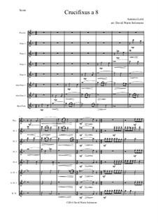 Crucifixus: For flute choir by Антонио Лотти