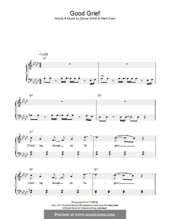 Good Grief (Bastille): Для фортепиано by Daniel Smith, Mark Crew