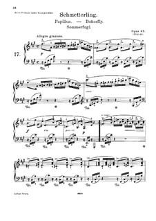 Лирические пьесы, Op.43: Весь сборник  by Эдвард Григ
