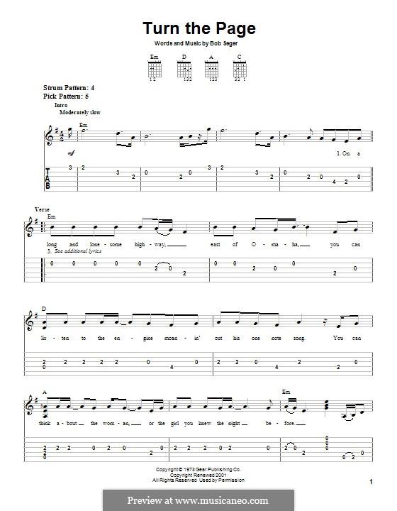 Turn the Page: Гитарная табулатура by Bob Seger