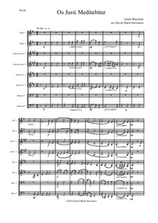 Os justi, WAB 30: For wind octet by Антон Брукнер