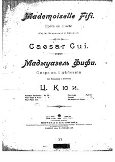 Мадмуазель Фифи: Партитура by Цезарь Кюи