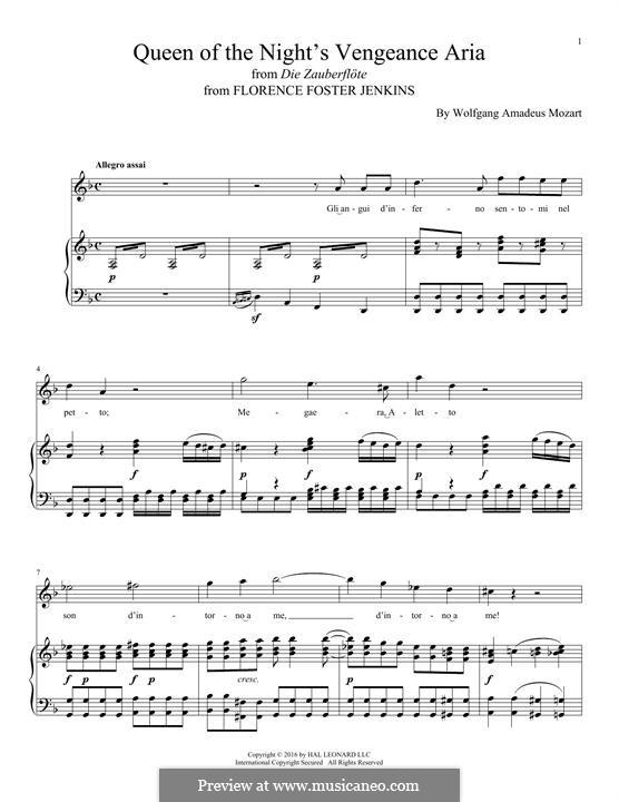 Фрагменты: Queen of the Night's Vengeance Aria by Вольфганг Амадей Моцарт