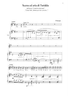 Сельская честь: Scena ed aria di Turiddu by Пьетро Масканьи