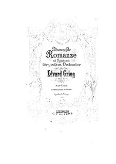 Старонорвежский романс с вариациями, Op.51: Для оркестра by Эдвард Григ