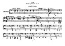 Сюита No.2, Op.55: Для фортепиано в четыре руки by Эдвард Григ