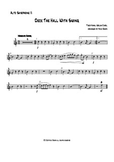 Deck the Hall with Swing: For saxophone quartet - alto sax II part by folklore