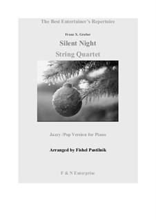 Тихая ночь (ноты для скачивания): Для струнного квартета by Франц Ксавьер Грубер