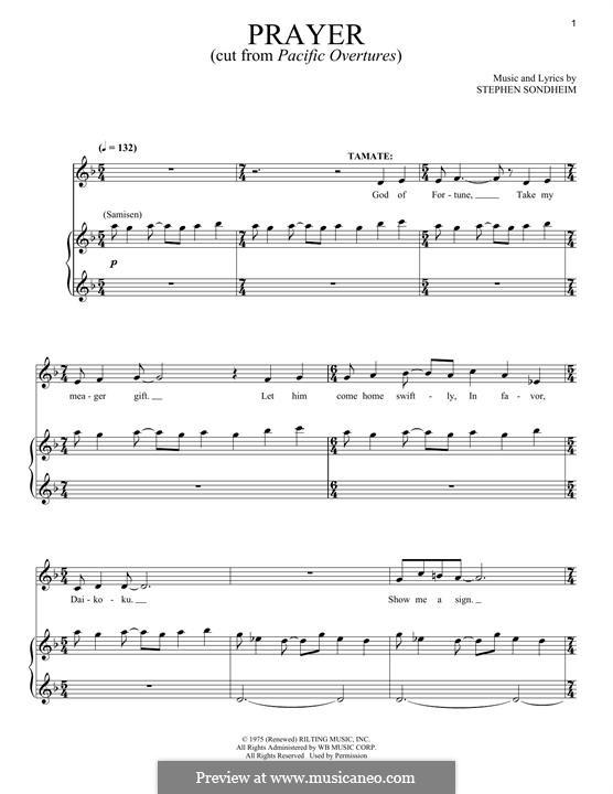 Prayers: Для голоса и фортепиано by Stephen Sondheim