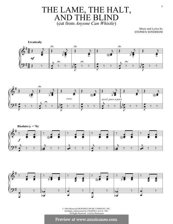 The Lame, the Halt, and the Blind: Для голоса и фортепиано by Stephen Sondheim