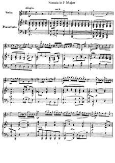 Соната для скрипки и клавесина фа мажор, HWV 370 Op.1 No.12: Версия для скрипки и фортепиано – партитура, партия by Георг Фридрих Гендель