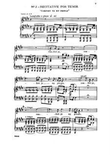No.2 Comfort Ye My People: Клавир с вокальной партией by Георг Фридрих Гендель