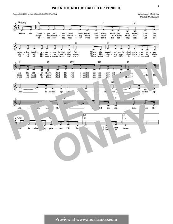 В час, когда труба Господня над землёю прозвучит: Мелодия by James Milton Black