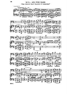 No.11 Народ, ходящий во тьме: Для солистов, хора и фортепиано by Георг Фридрих Гендель