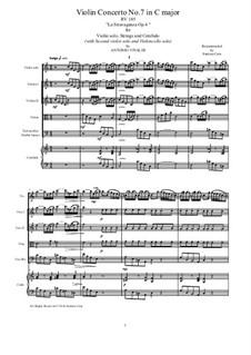 La stravaganza. Twelve Violin Concertos, Op.4: Violin Concerto No.7 in C Major – score, parts, RV 185 by Антонио Вивальди