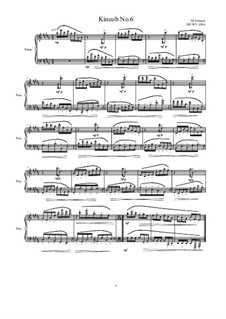 Kincob No.6 for piano, MVWV 1086: Kincob No.6 for piano by Maurice Verheul