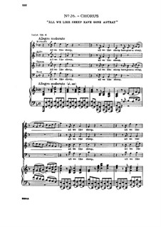 No.26 Все мы блуждали, как овцы: Для смешанного хора и фортепиано by Георг Фридрих Гендель