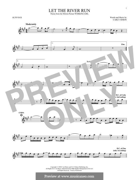 Let the River Run: Для альтового саксофона by Carly Simon