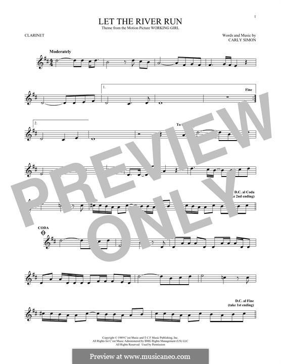 Let the River Run: Для кларнета by Carly Simon
