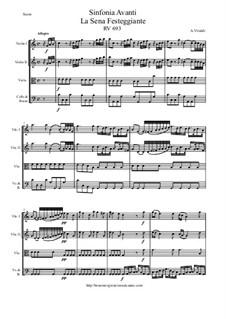 Sinfonia C-Dur avanti La Sena Festeggiante, RV 693: Score and parts by Антонио Вивальди
