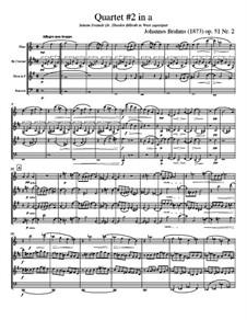Струнный квартет No.2 ля минор, Op.51: Version for wind quartet - score, parts by Иоганнес Брамс