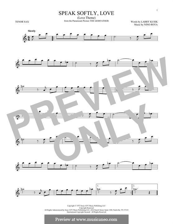 The Godfather (Love Theme): Для тенорового саксофона by Нино Рота