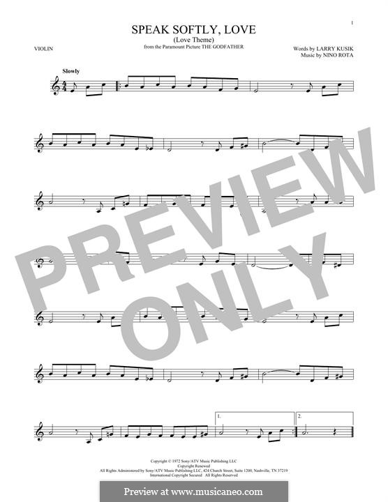The Godfather (Love Theme): Для скрипки by Нино Рота