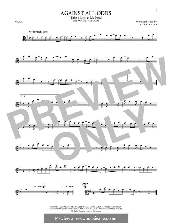 Against All Odds (Take a Look at Me Now): For viola by Phil Collins