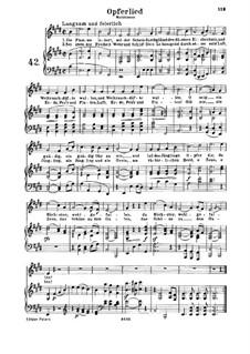 Opferlied, WoO 126: Клавир с вокальной партией by Людвиг ван Бетховен