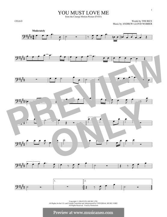 You Must Love Me: Для виолончели by Andrew Lloyd Webber
