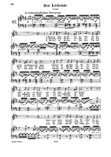 Der Liebende, WoO 139: Клавир с вокальной партией by Людвиг ван Бетховен