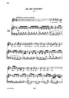 An die Geliebte, WoO 140: Клавир с вокальной партией by Людвиг ван Бетховен