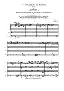 La stravaganza. Twelve Violin Concertos, Op.4: Violin Concerto No.8 in D minor. Arrangement for string quartet, RV 249 by Антонио Вивальди