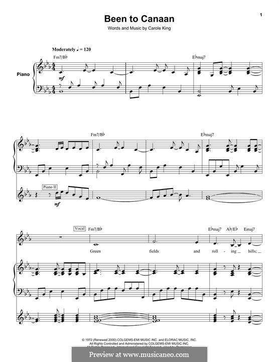 Been to Canaan: Для голоса и фортепиано (или гитары) by Carole King