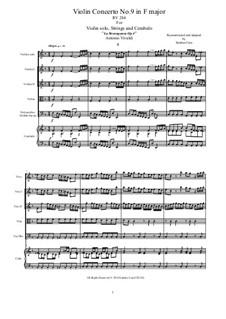 La stravaganza. Twelve Violin Concertos, Op.4: Violin Concerto No.9 in F Major, RV 284 by Антонио Вивальди