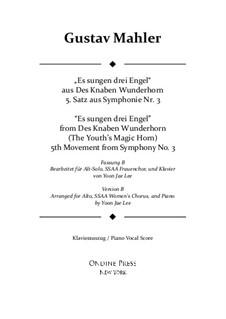 Симфония No.3 ре минор: Movement V. Version B for Alto solo, SSAA Chorus by Густав Малер