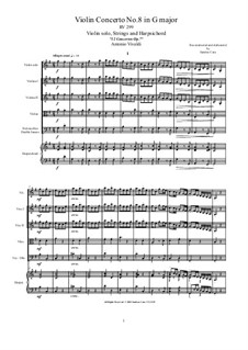 Concerto for Violin and Strings in G Major, RV 299 Op.7 No.8: Score, parts by Антонио Вивальди